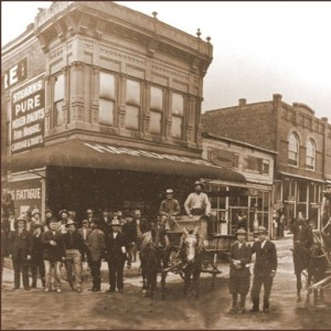 Historic photo of hardware store