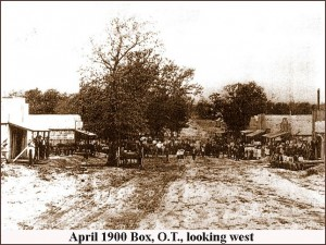 Box - Looking west, April 1900