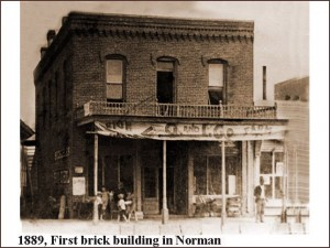 Norman - First brick building, 1889