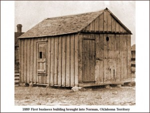 Norman - First business building brought in, 1889